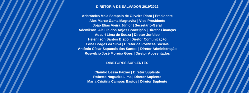 Diretoria da Delegacia Sindical do Sindifisco Nacional de Salvador
